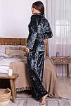 Жіночий домашній брючний велюровий костюм Лючі, фото 4