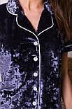Женский домашний велюровый костюм с шортами   Нурия, фото 4