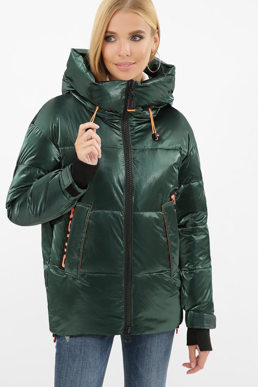 Женская зимняя куртка  изумруд  8100