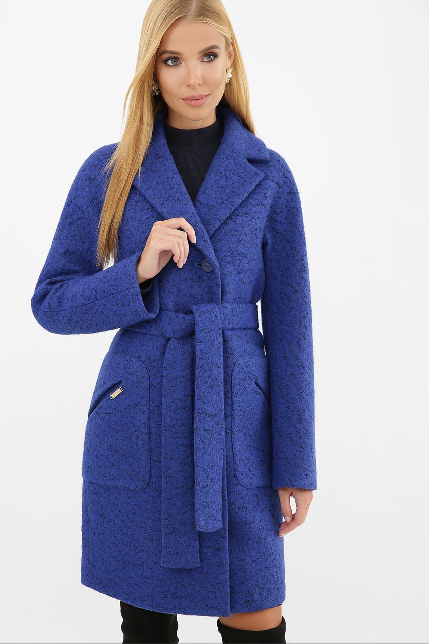Женское демисезонное пальто  синее MS-191(б)