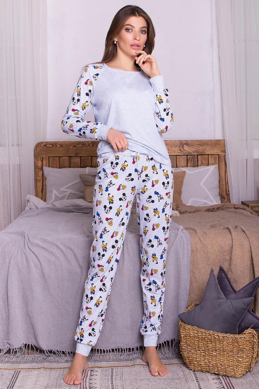 Женская трикотажная пижама с брюками Амаль