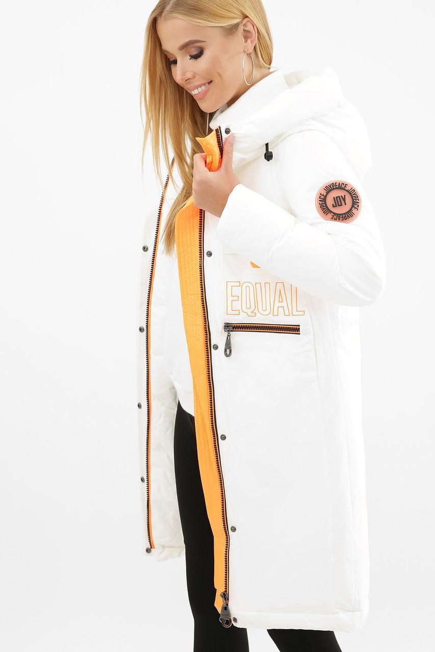 Куртка женская зимняя белая 297