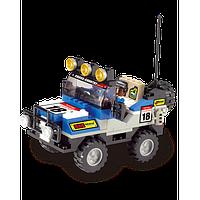 Машинка конструктор М38-В0131 для мальчиков, 2 фигурки и внедорожник