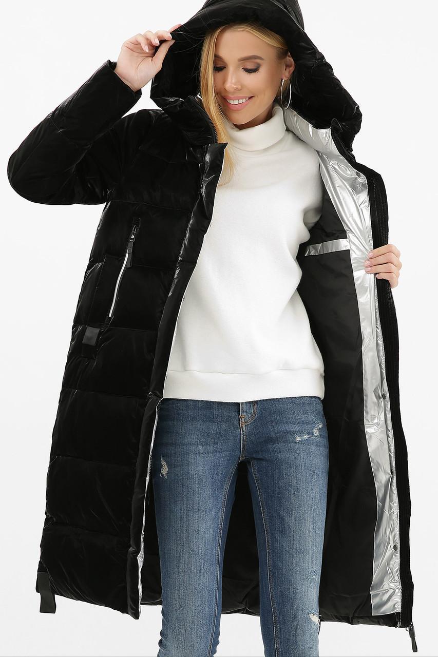 Женская зимняя куртка черная  2105