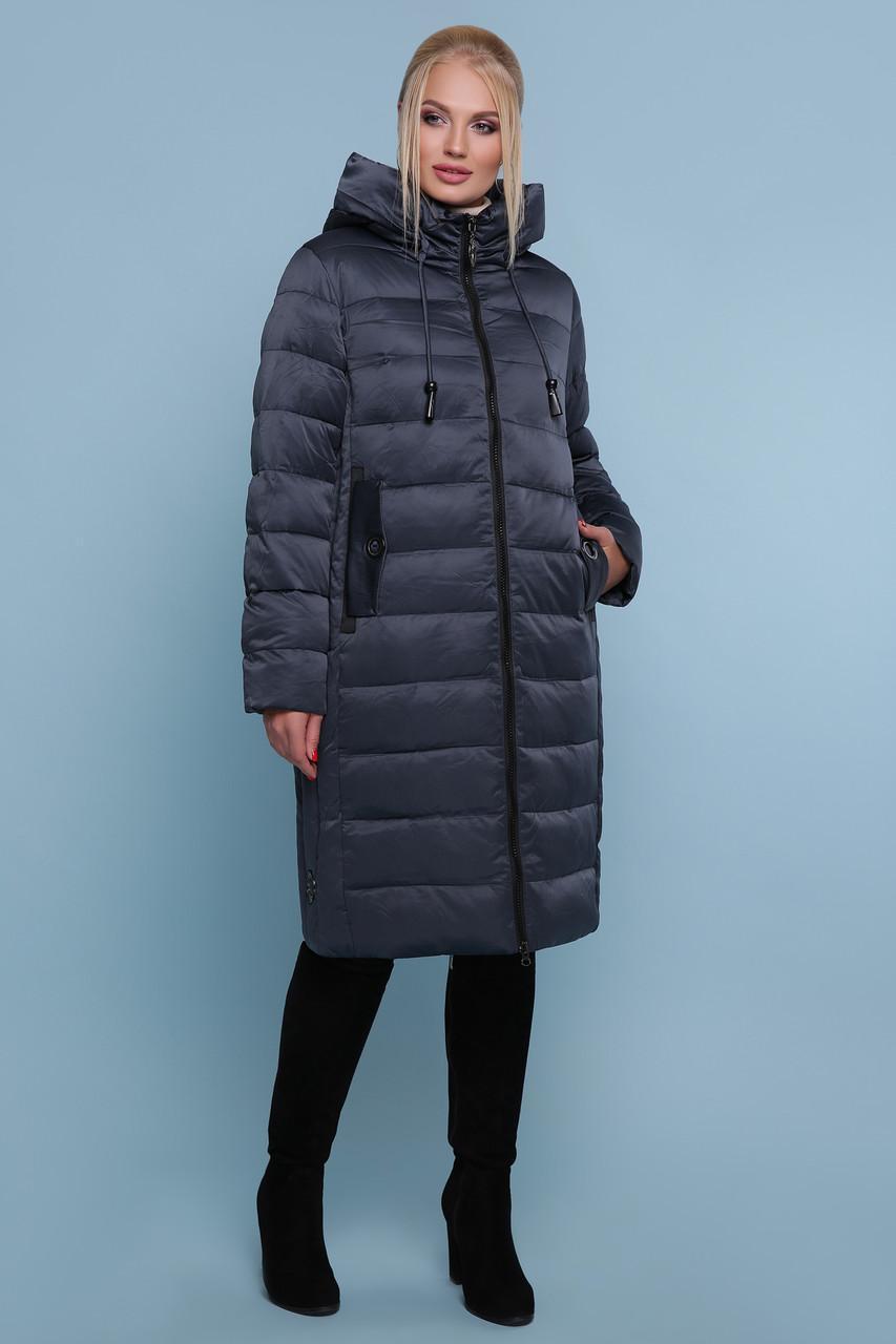 Жіноча зимова куртка без хутра 18-197-Б