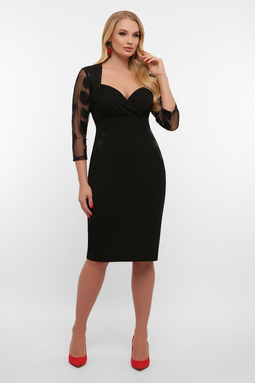 Черное платье Сусанна-1Б д/р