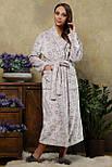 Теплый махровый   халат Феличе (длинный), фото 2