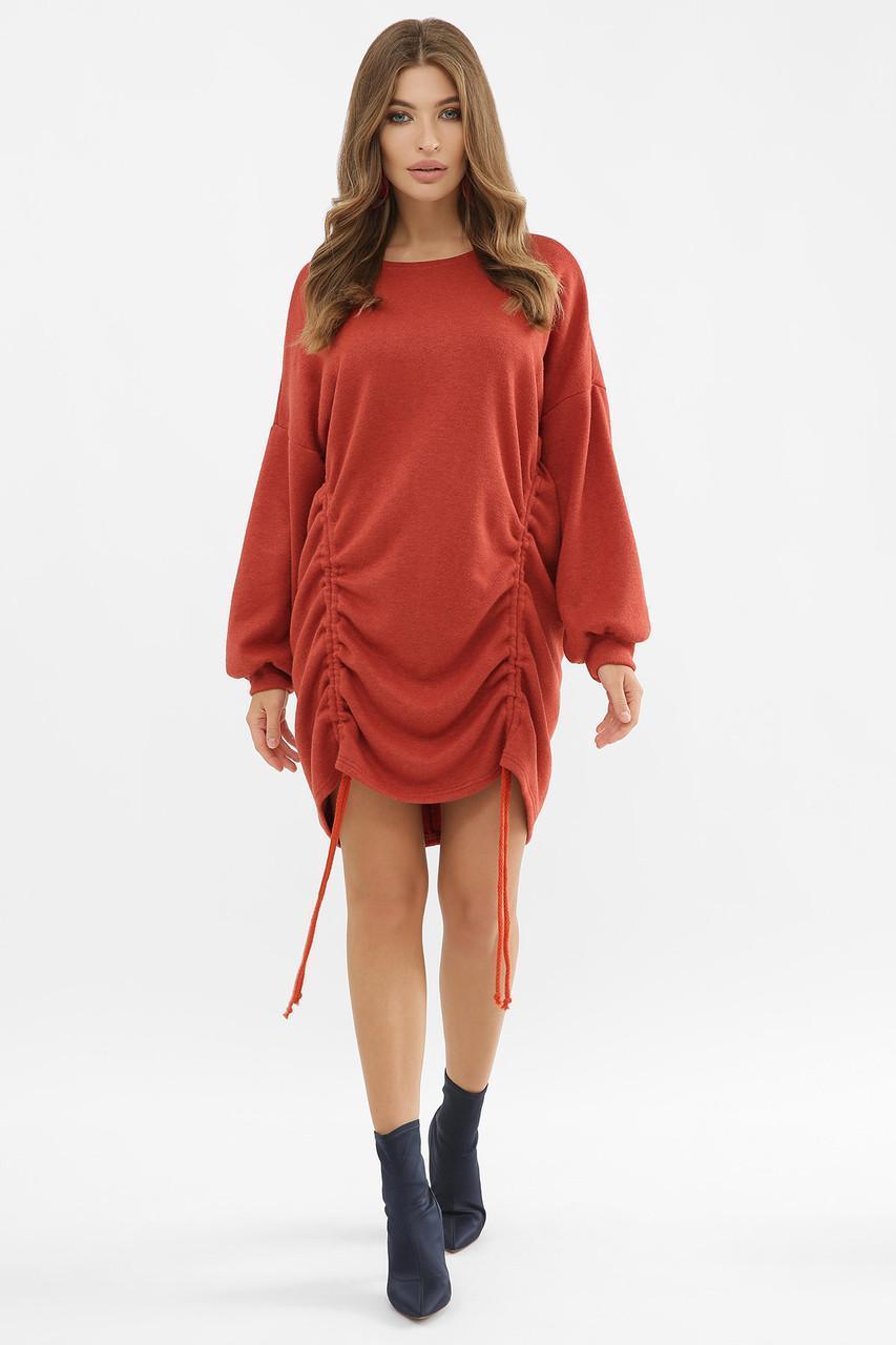 Шерстяное  платье со шнуровкой   Диля д/р