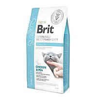 Brit Veterinary Diet Cat Grain free Obesity 2кг беззерновая диета при избыточном весе и ожирении