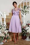 Ошатне плаття з вишивкою і шифоном лілове Айседора б/р, фото 3