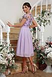 Ошатне плаття з вишивкою і шифоном лілове Айседора б/р, фото 4