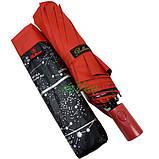 Женский зонтик Звездное небо полуавтомат складной 10 спиц антиветер Bellissimо Красный (19302-6), фото 8