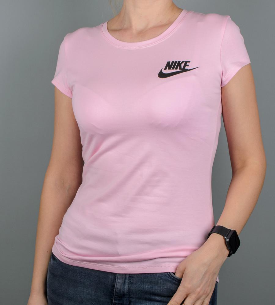 Футболка женская спортивная NIKE (2109ж), Розовый