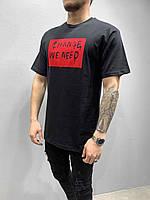 Мужская футболка стильная лето цвет: черная Турция