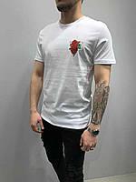 Мужская футболка стильная с рисунком лето цвет: черная Турция