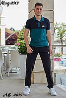 Спортивный летний костюм с футболкой найк Nike мужской размеры 48, 50, 52, 54