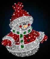 Светодиодная фигура Снеговик LUMIERE 1.23*1.9 м