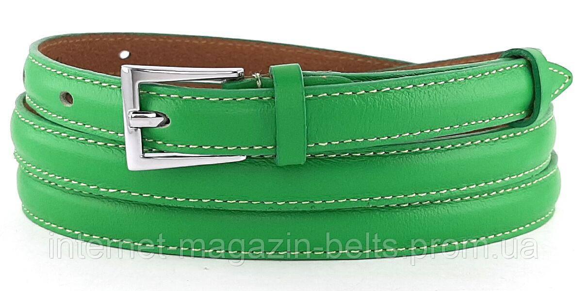 Ремінь шкіряний жіночій Fs.Style 1501SD9 зелений