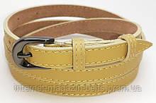 Ремінь шкіряний жіночій Fs.Style 1501SD9 жовтий
