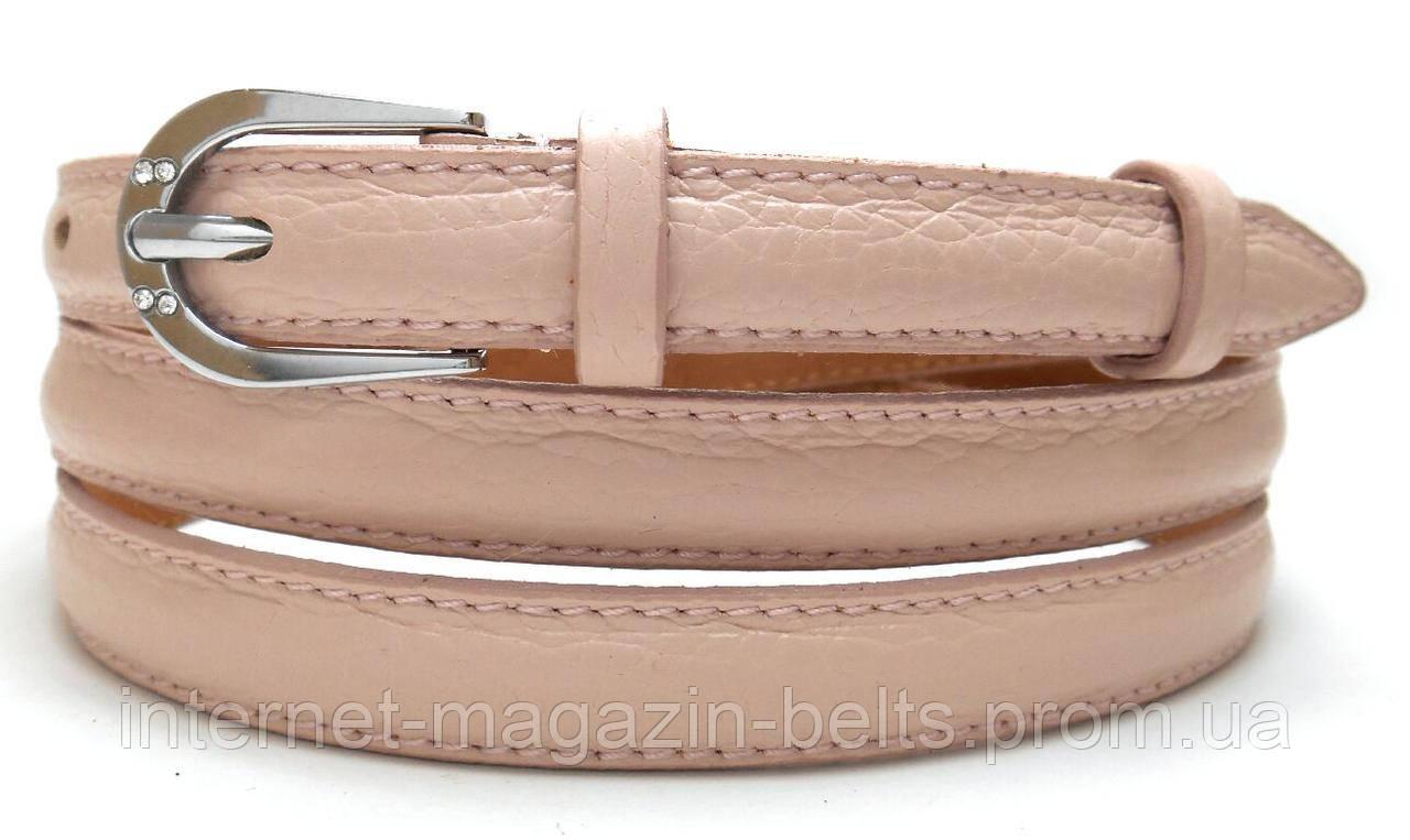 Ремінь шкіряний жіночій Fs.Style 1501SD9 пудра