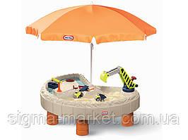 """Песочница """"Строительная площадка"""" с зонтом Little Tikes 401N10060"""