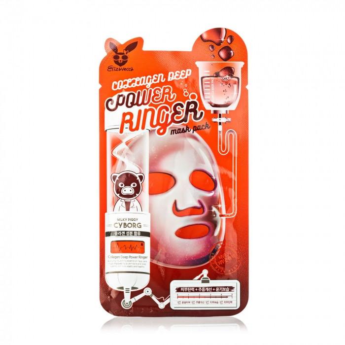 Коллагеновая маска Elizavecca Collagen Deep Power Ringer Mask