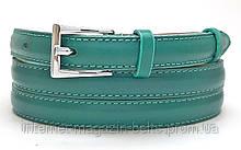 Ремінь шкіряний жіночій Fs.Style 1501SD9 зелений нефрітовий