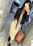 Женская куртка косуха из эко кожи черная размер 42 44 46 48, фото 4