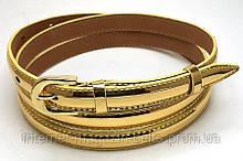 Ремінь шкіряний жіночій Fs.Style 1501SD9 золото