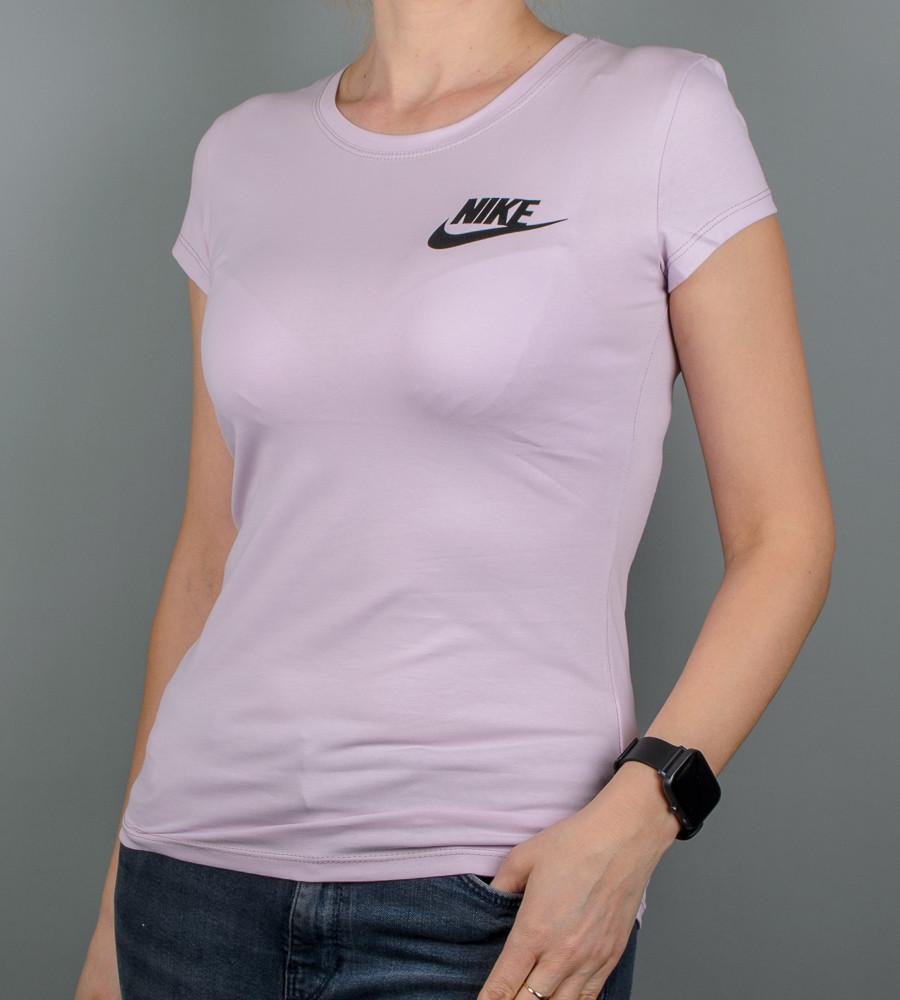 Футболка женская спортивная NIKE (2109ж), Лиловый