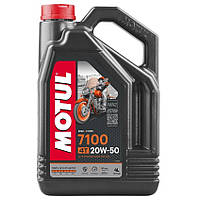 Масло для 4-х тактных двигателей 100% синтетическое эстеровое MOTUL 7100 4T SAE 20W50 4л. 104104/836441