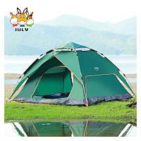 Палатка автоматична TD-02 (3-4 людини, зелена, додатковий тент, 240*200*135)