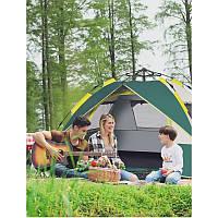 Палатка автоматична TD-95 (3-4 людини, зелена, 3 вікна, 205*195*130)