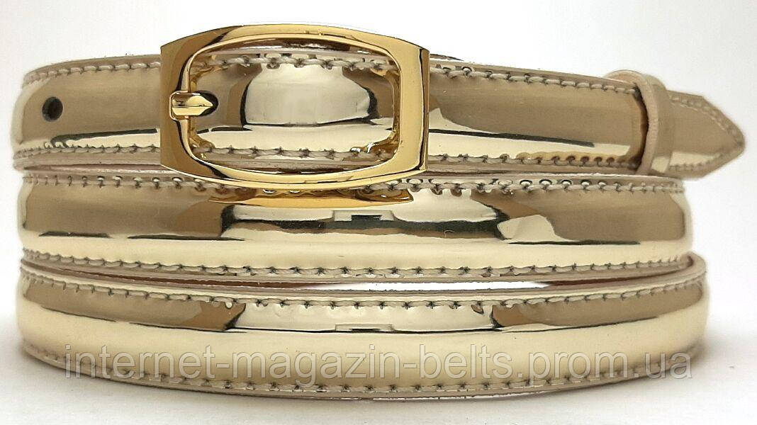 Ремінь шкіряний жіночій Fs.Style 1501SD9 золотий