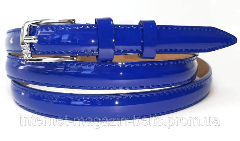 Ремінь шкіряний жіночій Fs.Style 1501SD9 синій лак