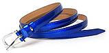 Ремінь шкіряний жіночій Fs.Style 1501SD9 синій лак, фото 2