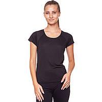 Футболка женская спортивная UNDER ARMOUR Для фитнеса йоги для пилатеса Черный (CO-826) M