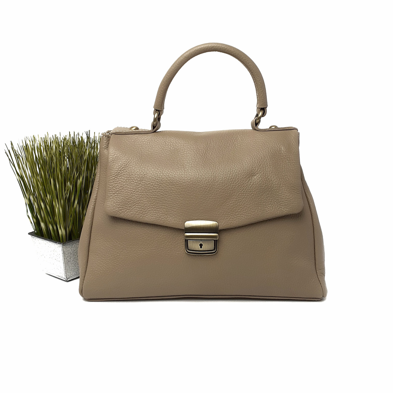 Класическая деловая женская кожанная сумка Арт.3179 ( BB) V.P. Італія