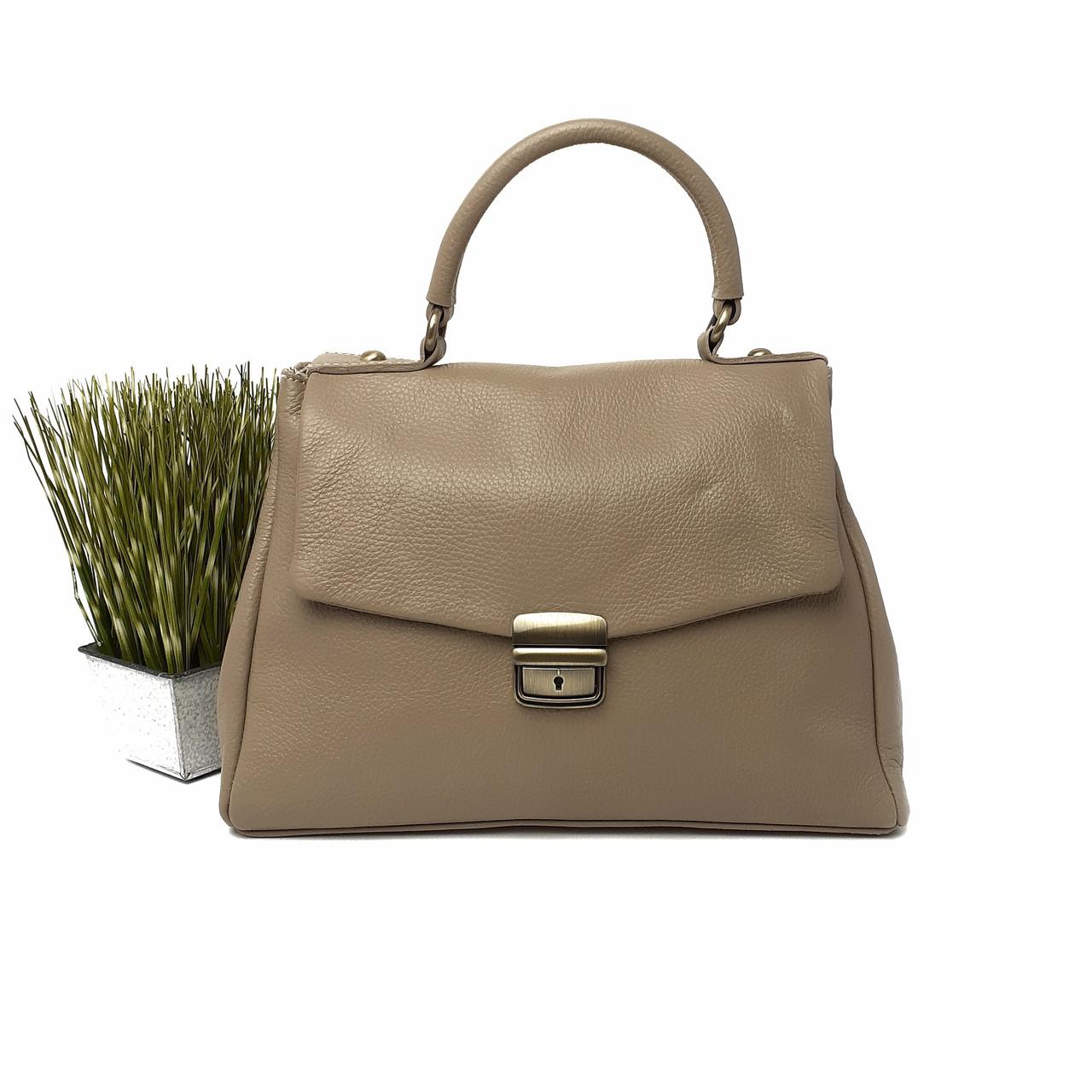 Класична ділова жіноча шкіряна сумка Арт.3179 ( BB) V. P. Італія
