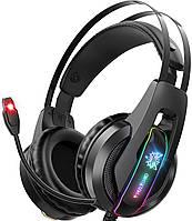 Игровые наушники с микрофоном и LED RGB подсветкой ONIKUMA K16