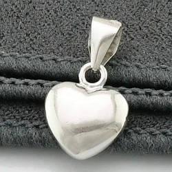Серебряный кулон Сердце размер 15х9 мм вес 0.7 г