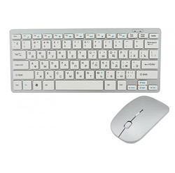 Беспроводная клавиатура с мышью W03 White AVE