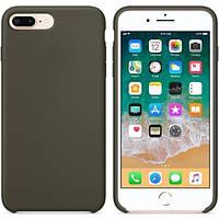 Чехол silicone case для iphone 7 plus, iphone 8 plus or dark olive