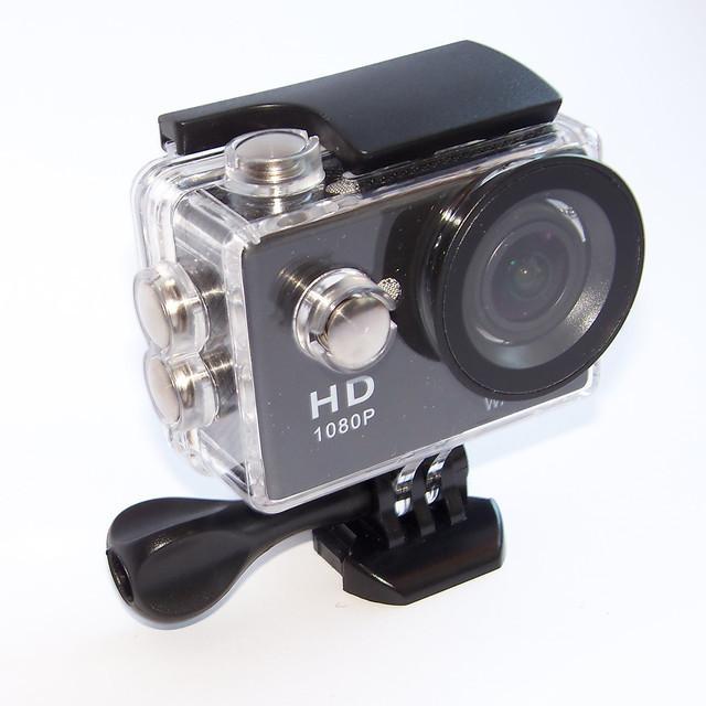 Экшн камера A7 FullHD + аквабокс + Регистратор Полный компект+крепление шлем ЧЕРНАЯ AVE