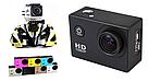 Экшн камера A7 FullHD + аквабокс + Регистратор Полный компект+крепление шлем ЧЕРНАЯ AVE, фото 8