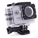 Екшн камера A7 FullHD + аквабокс + Реєстратор Повний компект+кріплення шолом СРІБЛО, фото 4