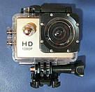 Екшн камера A7 FullHD + аквабокс + Реєстратор Повний компект+кріплення шолом СРІБЛО, фото 8