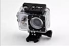 Екшн камера A7 FullHD + аквабокс + Реєстратор Повний компект+кріплення шолом СРІБЛО, фото 9
