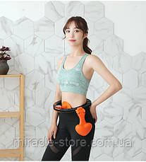 Хулахуп обруч для схуднення фітнес коло для талії хула хуп з обважнювачем Hula Hoop, фото 3