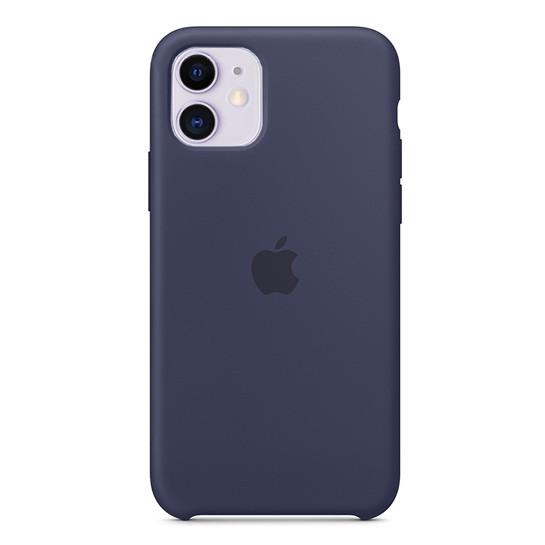Силиконовый Чехол Накладка Original Silicone Case High Copy — iPhone 11 Midnight Blue (8) AVE